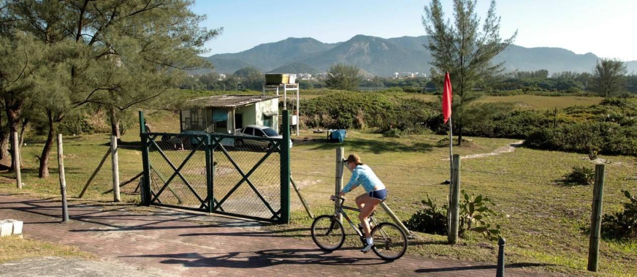 Reserva de Marapendi será transformada em parque até 2016 Foto: Gabriel de Paiva / Agência O Globo (28/07/2011)