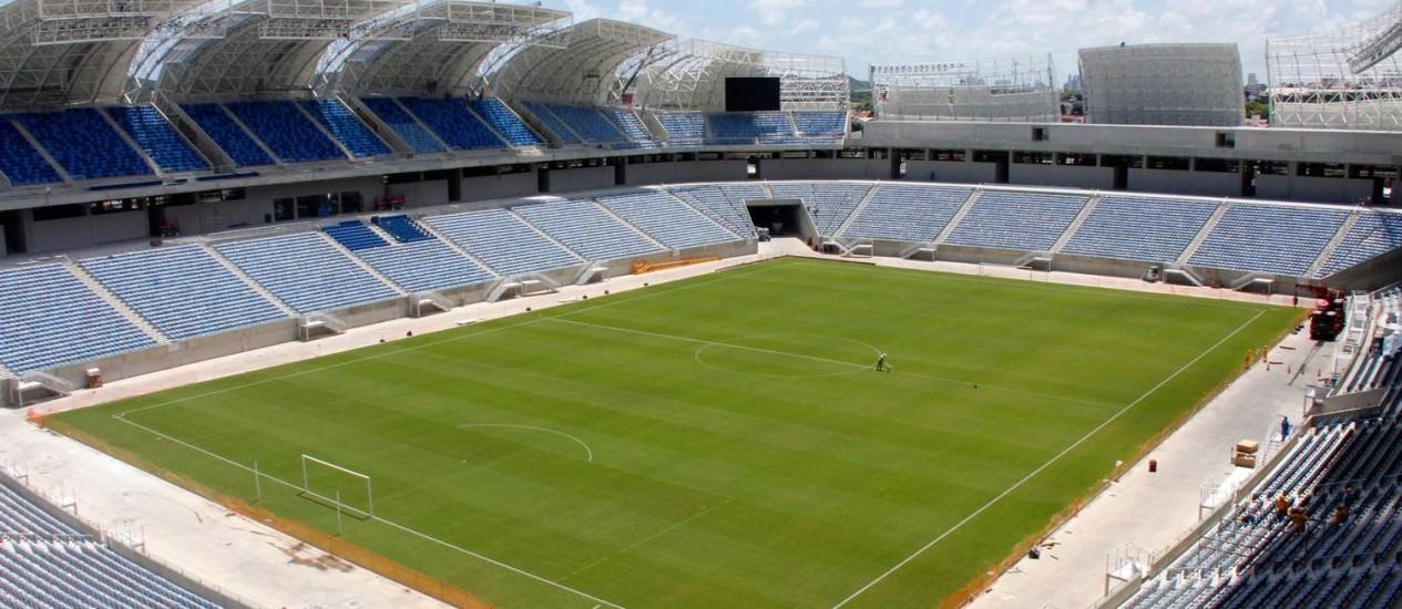Arena das Dunas, em Natal: estádio inaugurado em janeiro de 2014 receberá jogo da seleção dos EUA e mais três partidas na Copa Foto: Divulgação / Agência O Globo