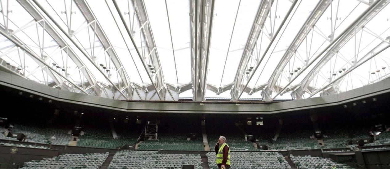 O torneio de Wimbledon é um dos quatro principais eventos da temporada de tênis Foto: ALASTAIR GRANT / AP