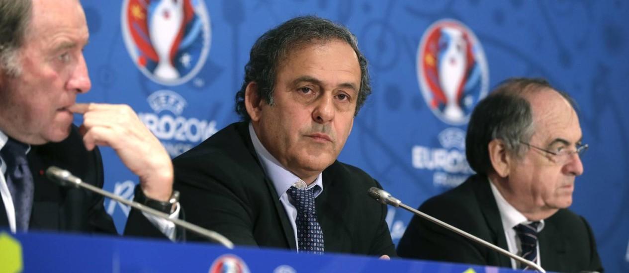Michel Platini em evento da UEFA Foto: JACKY NAEGELEN / REUTERS