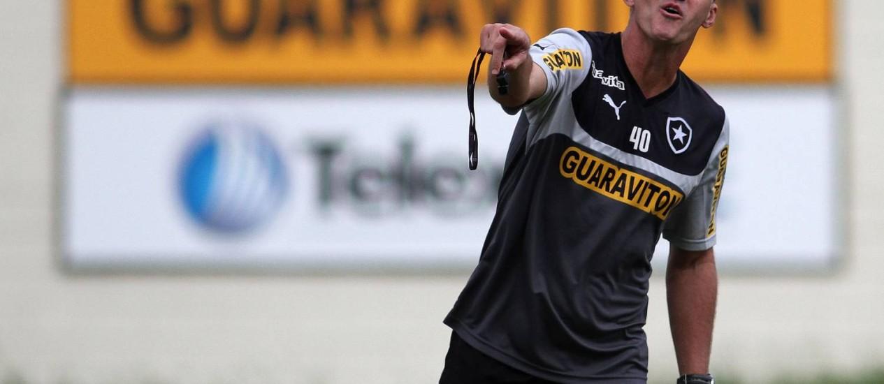 Vagner Mancini orienta o time do Botafogo durante treino Foto: Divulgação / Botafogo