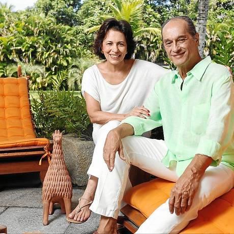 Parceria. Indio da Costa , o arquiteto, e a mulher Ana Maria, a decoradora Foto: Agência O Globo