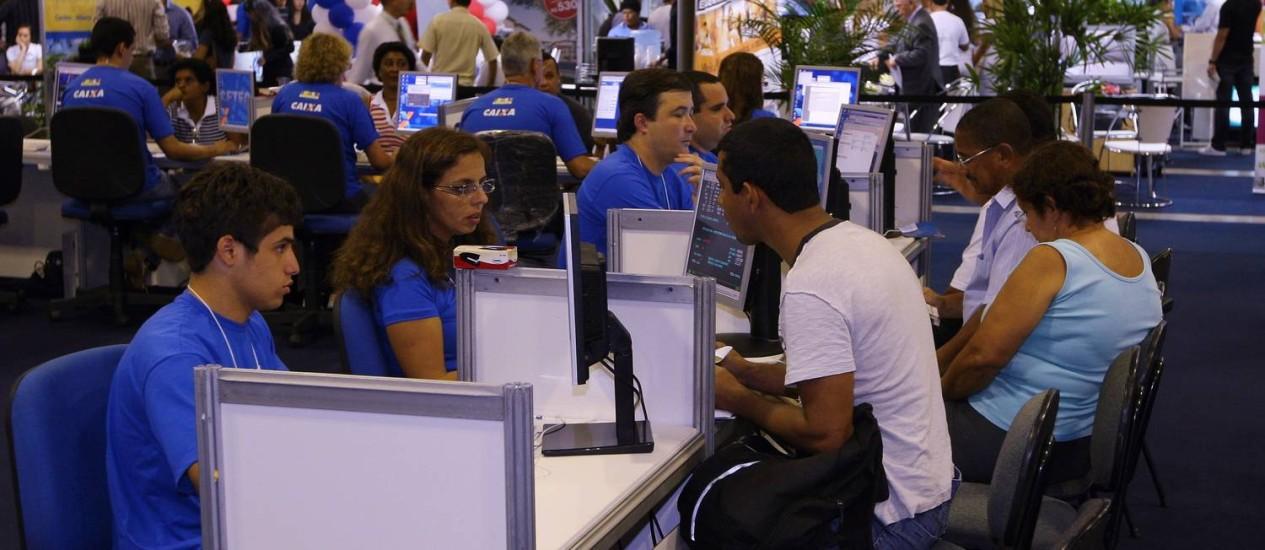 Feirão de Imóveis da Caixa, que será realizado em nove capitais brasileiras Foto: Arquivo O Globo