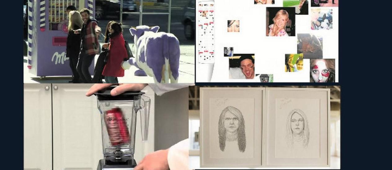 Reprodução de vídeos que, compartilhados em larga escala na internet, reforçaram positivamente a imagem das marcas que estão por trás deles Foto: Montagem/Reprodução