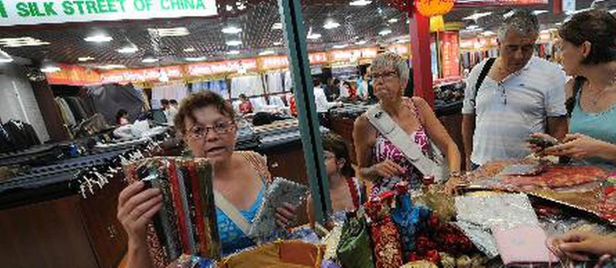 Xiushui, em Pequim, também é conhecido como o 'Mercado da Seda' Foto: Agência Xinhua