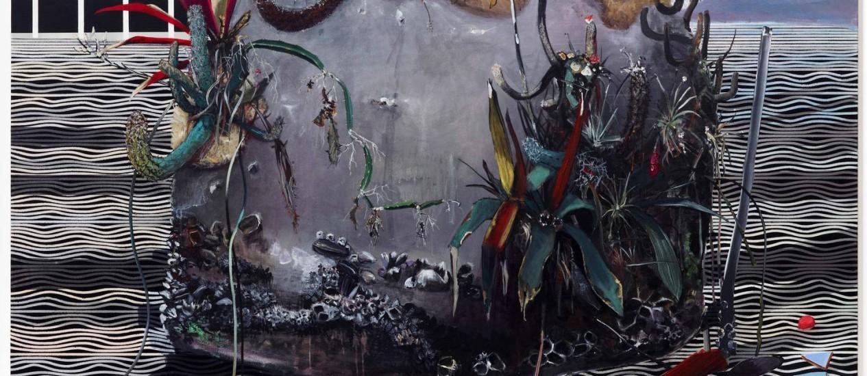 """A tela """"Medusa"""", de Luiz Zerbini, em exibição na Casa Daros"""