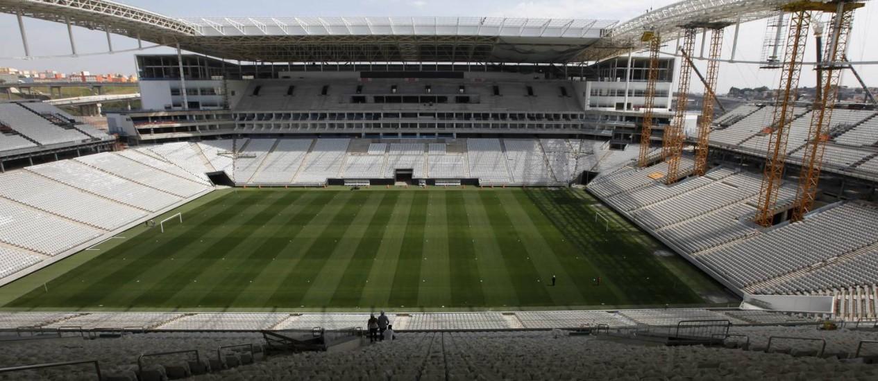 Vista geral da Arena Corinthians, o Itaquerão, palco da abertura da Copa do Mundo de 2014 Foto: Paulo Whitaker / REUTERS