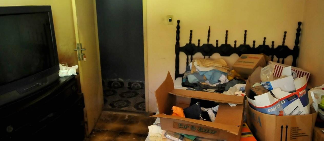 O quarto onde o coronel reformando Malhães foi assassinado Foto: Luiz Roberto Lima / Extra