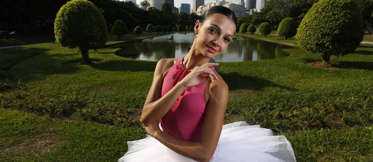 Márcia Jaqueline é primeira bailarina do Theatro Municipal do Rio de Janeiro Foto: Daniela Hallack Dacorso / Agência O Globo