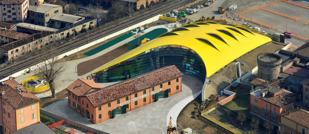 A casa onde nasceu Enzo Ferrari, em Modena Foto: Divulgação