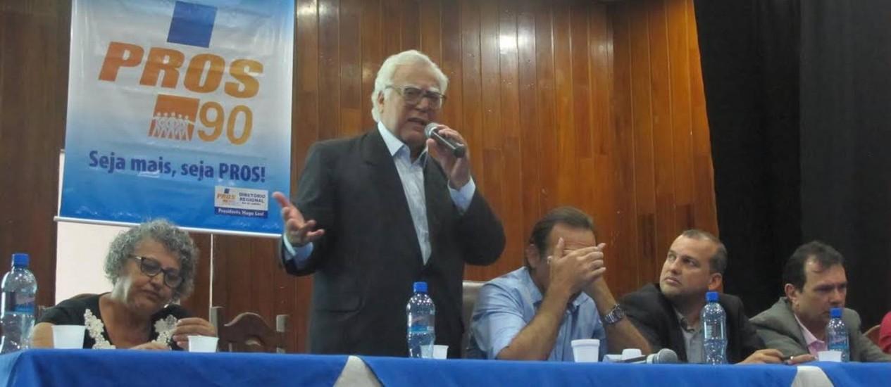 Miro fala em reunião do PROS Foto: ADALBERTO NETO