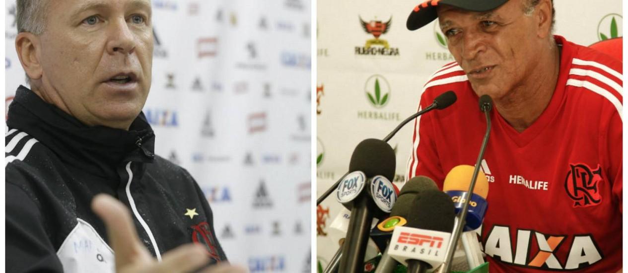 Mano Menezes e Jayme de Almeida se reencontram neste domingo Foto: O Globo / Arquivo