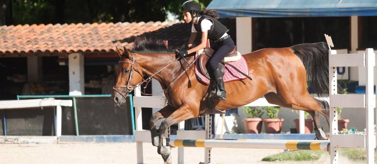 Carolina Motta. Praticante de hipismo, é filha do do cavaleiro olímpico Vinicius da Motta. Foto: Bárbara Lopes