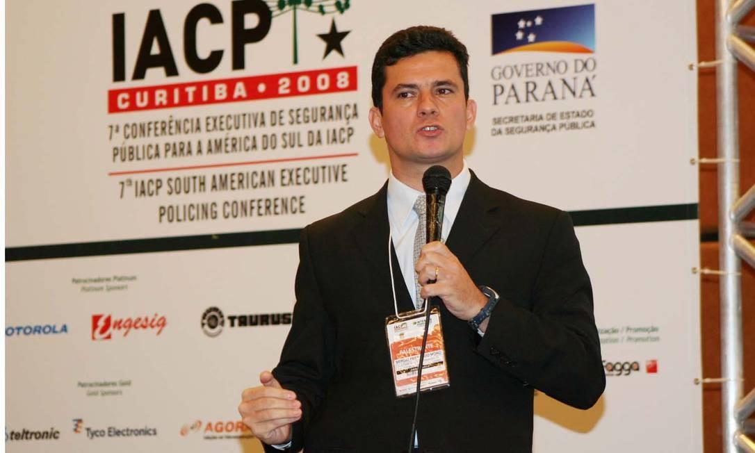 Sérgio Moro também atuou na Operação Farol da Colina, decretando a prisão de 123 pessoas Foto: Osvaldo Ribeiro/Divulgação SESP
