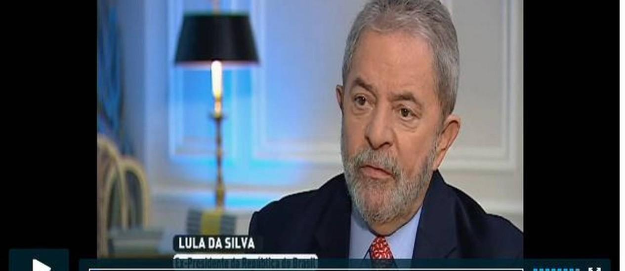Lula em entrevista à TV portuguesa