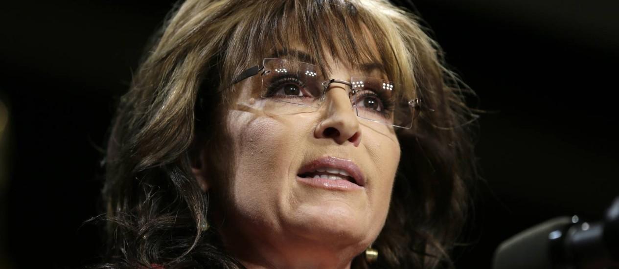 Sarah Palin. Ex-governadora republicana não voltou atrás nas polêmicas declarações do último fim de semana, nas quais defendeu o uso de simulação de afogamento contra terroristas Foto: Charlie Neibergall / AP