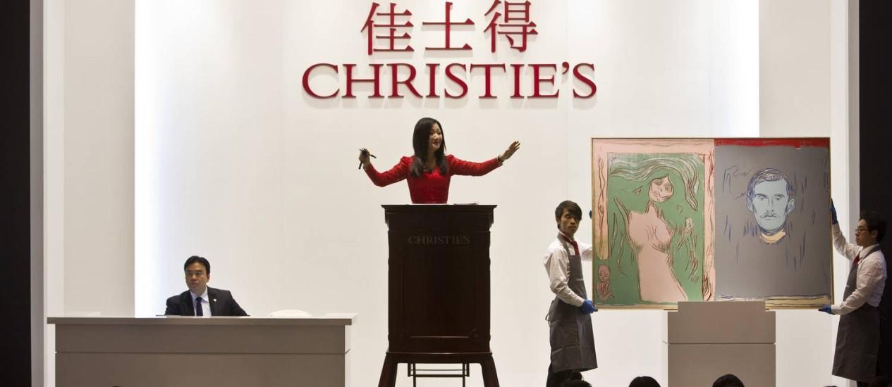 Peça de Andy Warhol teve a maior oferta do leilão da Christie's em Xangai: US$ 1,9 milhão Foto: ALY SONG / REUTERS