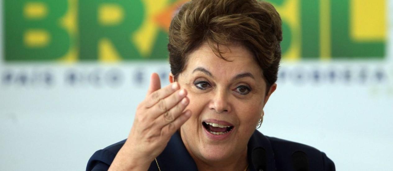 A presidente Dilma Rousseff Foto: Gustavo Miranda / O Globo