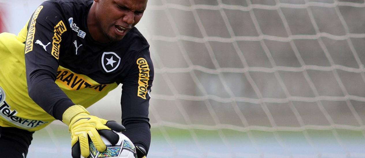 Jéfferson durante treino do Botafogo Foto: Divulgação / Botafogo