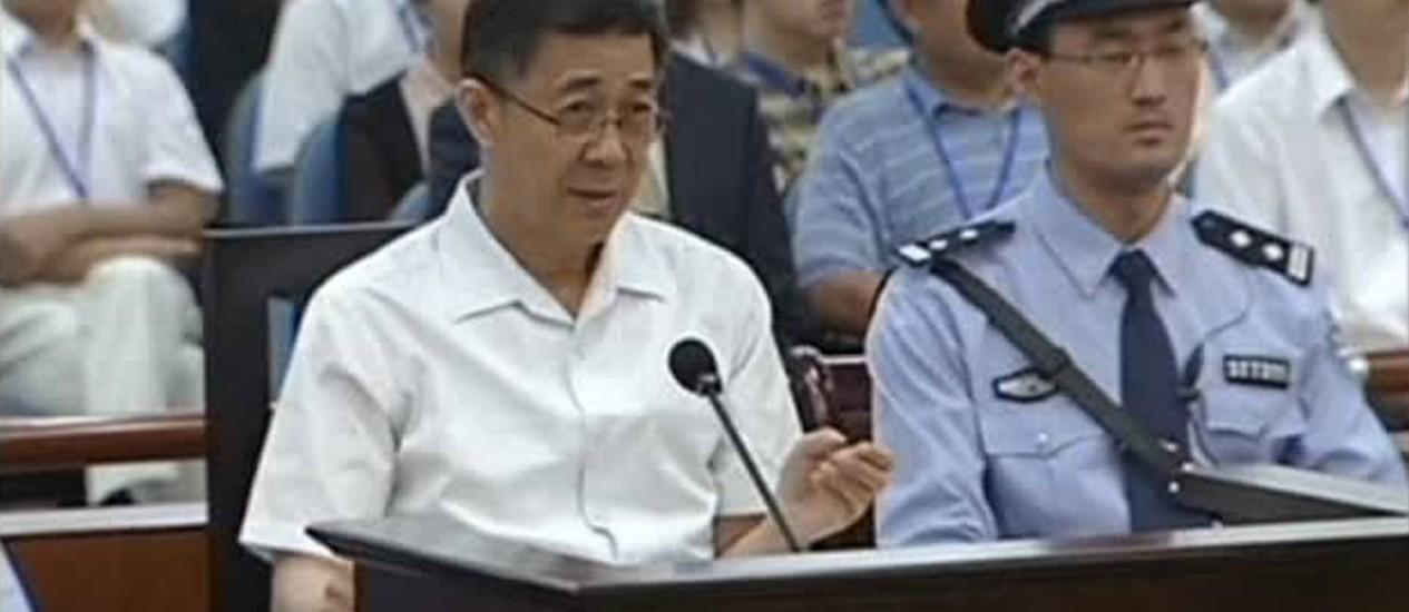 Bo Xilai: amante fez parte de estopim que o levou à condenação perpétua Foto: Reuters-23-10-2013