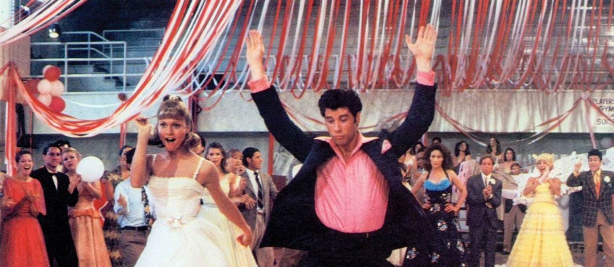 'Grease - nos tempos da brilhantina': a versão de 1978 com Olivia Newton-John e John Travolta Foto: Agência O Globo