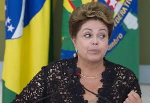 Presidente Dilma em foto de arquivo Foto: André Coelho / O Globo