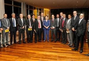 Dilma se reuniu com editores de esporte na noite desta segunda-feira no Palácio da Alvorada - Foto: Divulgação