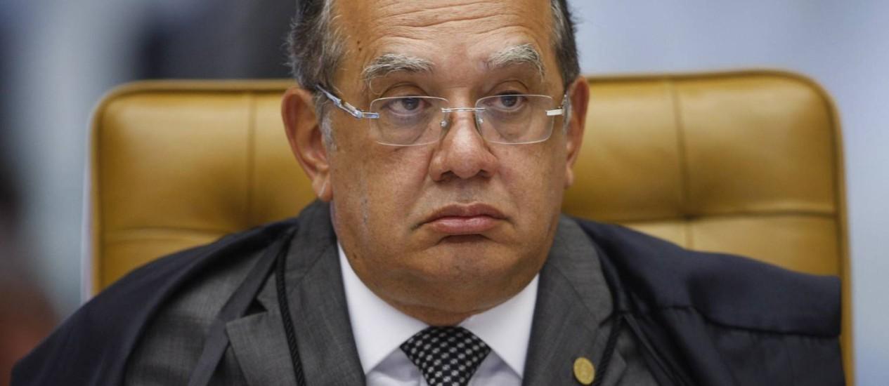 O ministro do STF, Gilmar Mendes Foto: Nelson Jr./SCO/STF/Agência O Globo