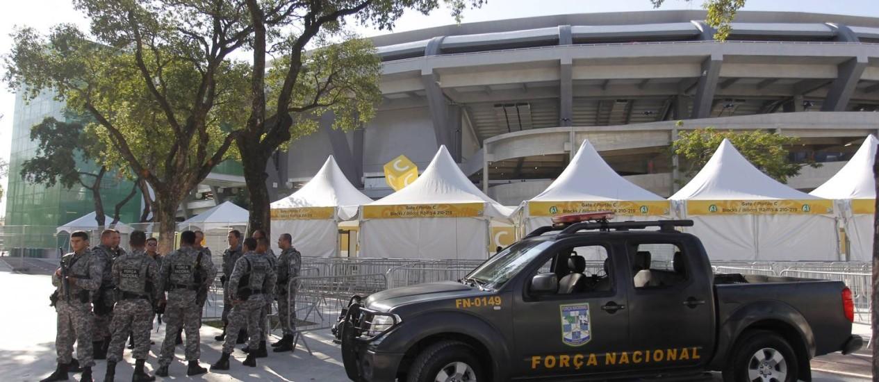 Policiamento foi reforçado no Rio de Janeiro durante a Copa das Confederações Foto: Marcelo Carnaval / Agência O Globo