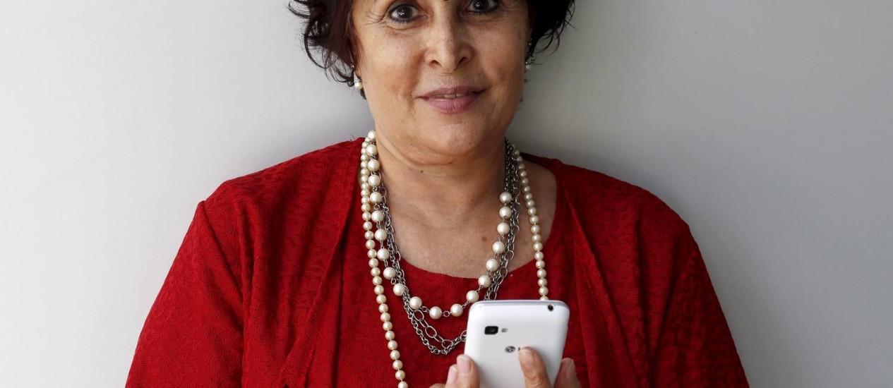 Vilma de Moura está no Facebook, no Twitter e no Orkut. Vai entrar agora no Instagram. Foto: / Foto Hudson Pontes