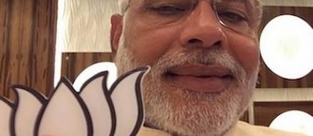 Opositor Narendra Modi é o favorito nas eleições indiana Foto: Reprodução Facebook