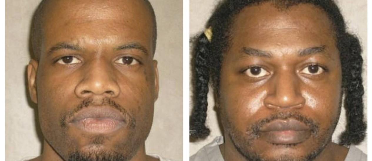 Clayton Lockett (esq.) e Charles Warner. Opositores da pena de morte querem suspensão de execuções até o fim do ano em Oklahoma após falahas na execução de condenado Foto: REUTERS