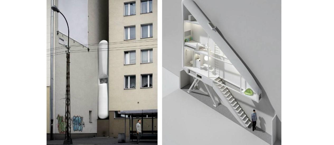 Você moraria em um lugar tão apertado como este? Foto: Reprodução da internet