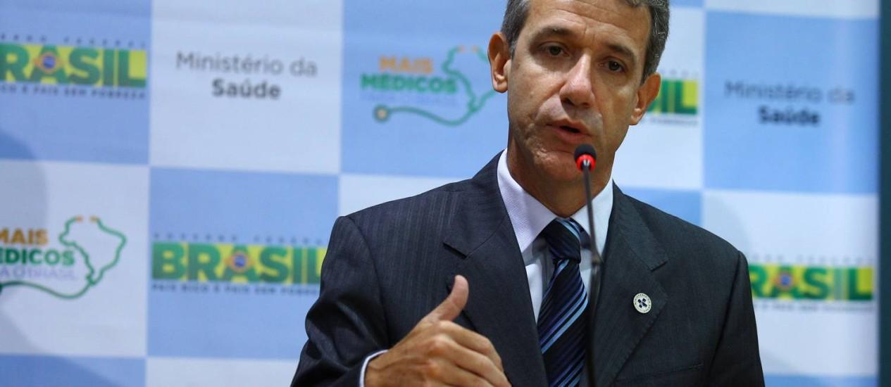 O ministro da Saúde, Arthur Chioro Foto: André Coelho / O Globo