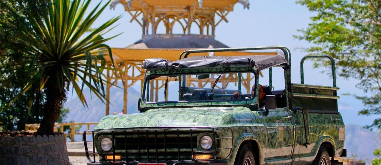Passeio. A Jeep Tour está oferecendo visitas guiadas na Floresta da Tijuca pela metade do preço Foto: Pedro Kirilos