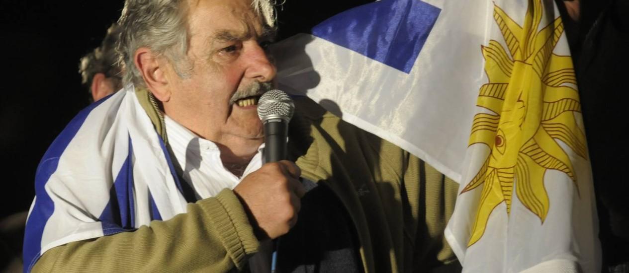 Jose Mujica. Presidente uruguaio propôs que país recebesse crianças sírias abandonadas em campos de refugiados Foto: Matilde Campodonico / AP