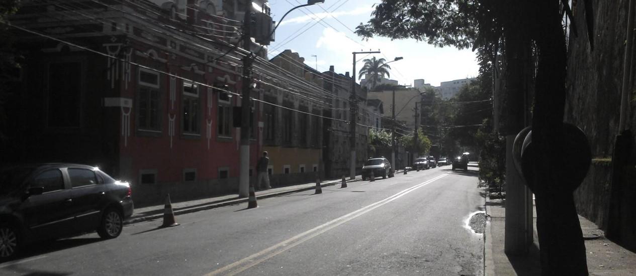 As vagas reservadas em rua do Ingá - Foto: Foto do leitor Thiago Rodrigues de Oliveira / Eu-Repórter