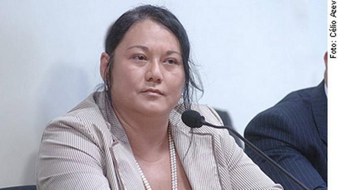 Nelma Kodama, na CPI dos Bingos no Senado em 2006 Foto: Agência Senado/9-3-2006