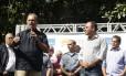 O governador Luiz Fernando Pezão durante inauguração da Companhia Destacada no Fonseca, em Niterói