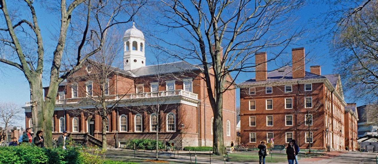 A Universidade de Harvard Foto: Terceiro / Reprodução