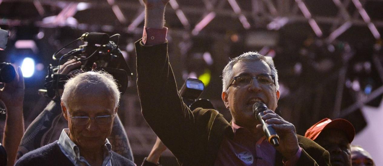 Com medo de vaias, Alexandre Padilha não discursou no evento da CUT do Dia do Trabalhador Foto: Agência Estado