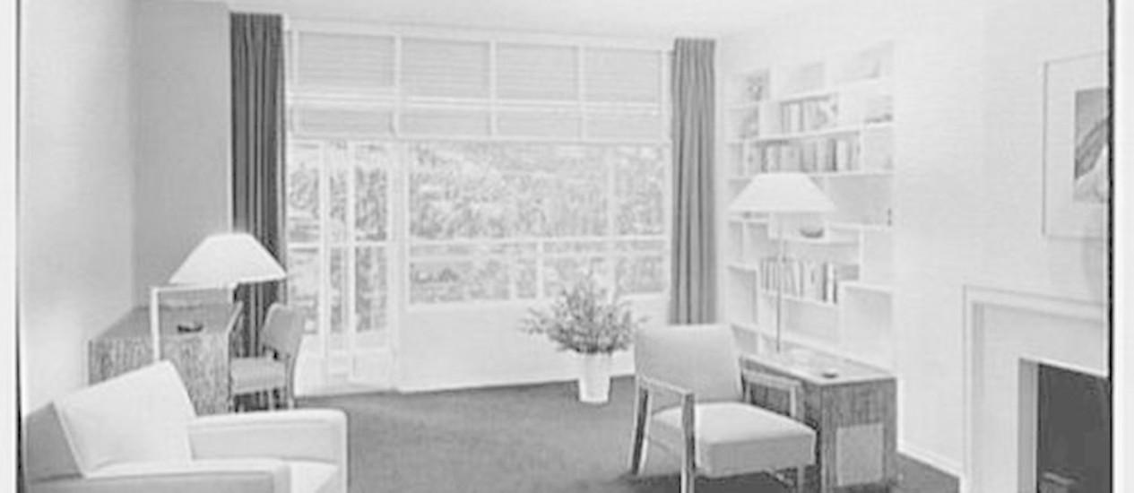 Imóvel anunciado na 5ª Avenida, em 1941 Foto: Biblioteca do Congresso Americano, Coleção Gottscho-Schleisner