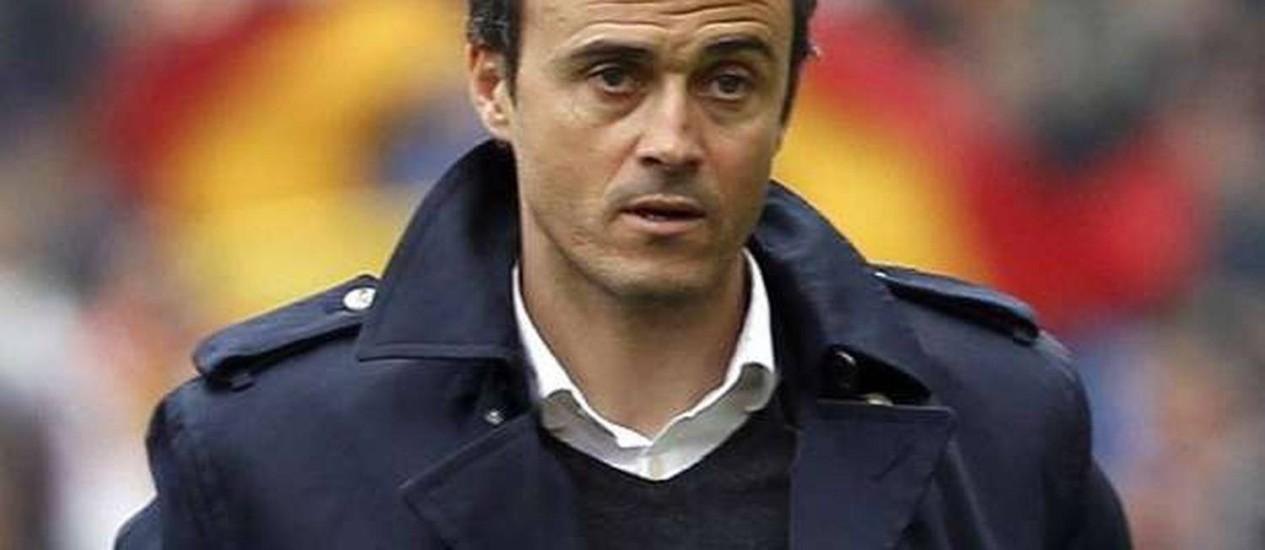 O ex-jogador Luis Enrique pode ser o novo técnico do Barcelona Foto: Reuters