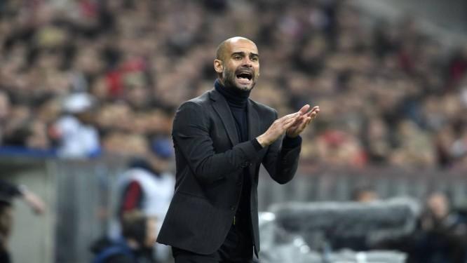 Guardiola disse que não mudou o sistema de jogo do Bayern e que o time teve sucesso na temporada Foto: Odd Andersen / AFP