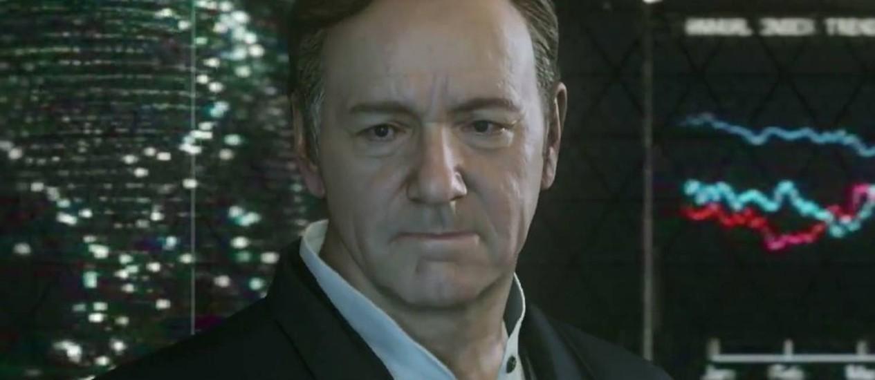 Kevin Spacey no trailer de 'Call of Duty: Advanced Warfare' Foto: Reprodução