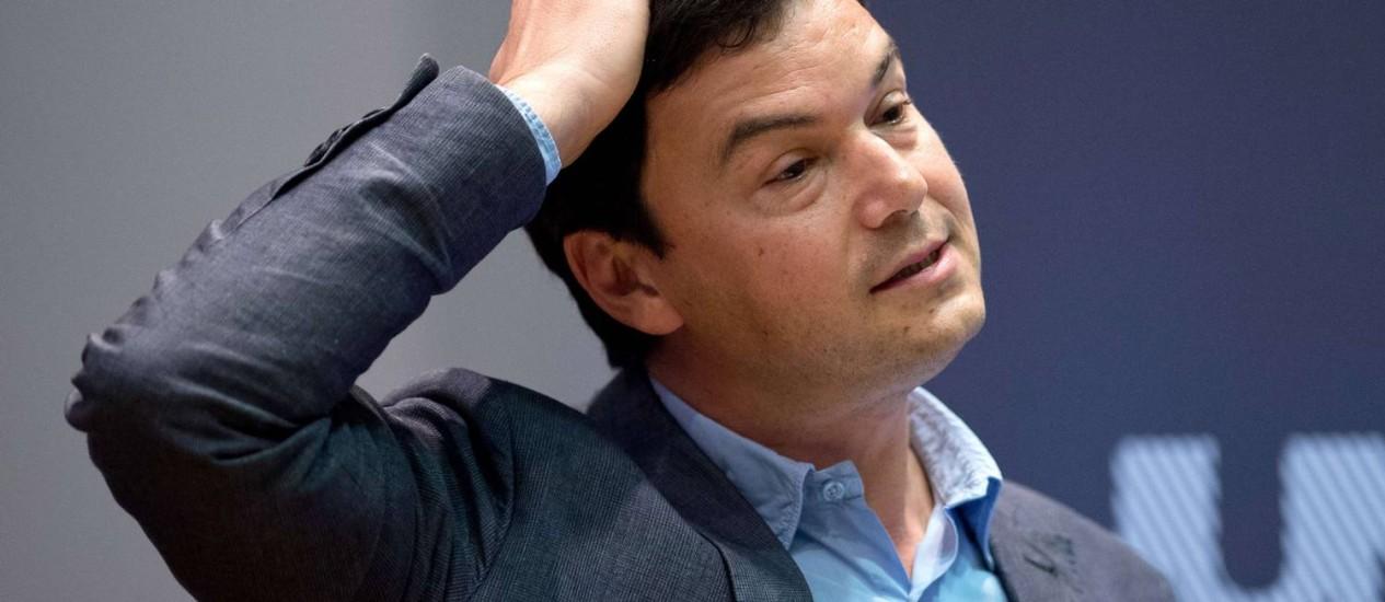 "O economista francês Thomas Piketty, autor do best-seller ""O Capital no século XXI"" Foto: LEON NEAL / AFP"