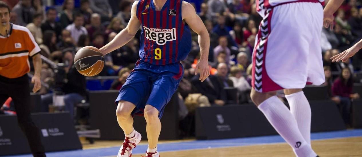 Visita. Marcelinho Huertas, armador do Barcelona e da seleção brasileira, será um dos jogadores a se reunir com Rubén Magnano Foto: Foto de Divulgação/22-02-2013