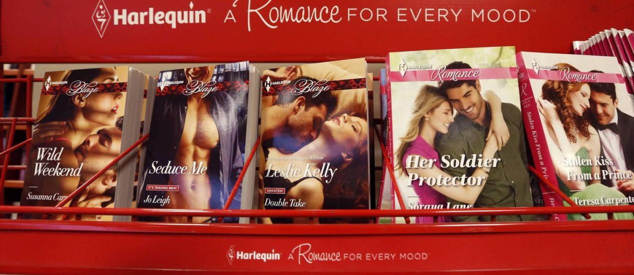 Romances femininos da Harlequin: sucesso em quase 30 idiomas Foto: Chris Wattie/Reuters