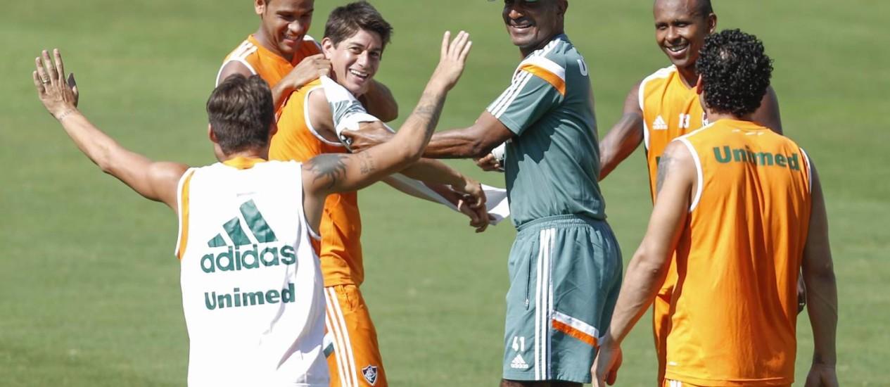 Cristóvão Borges está confiante no time do Fluminense para a partida contra o Vitória Foto: Alexandre Cassiano / Agência O Globo