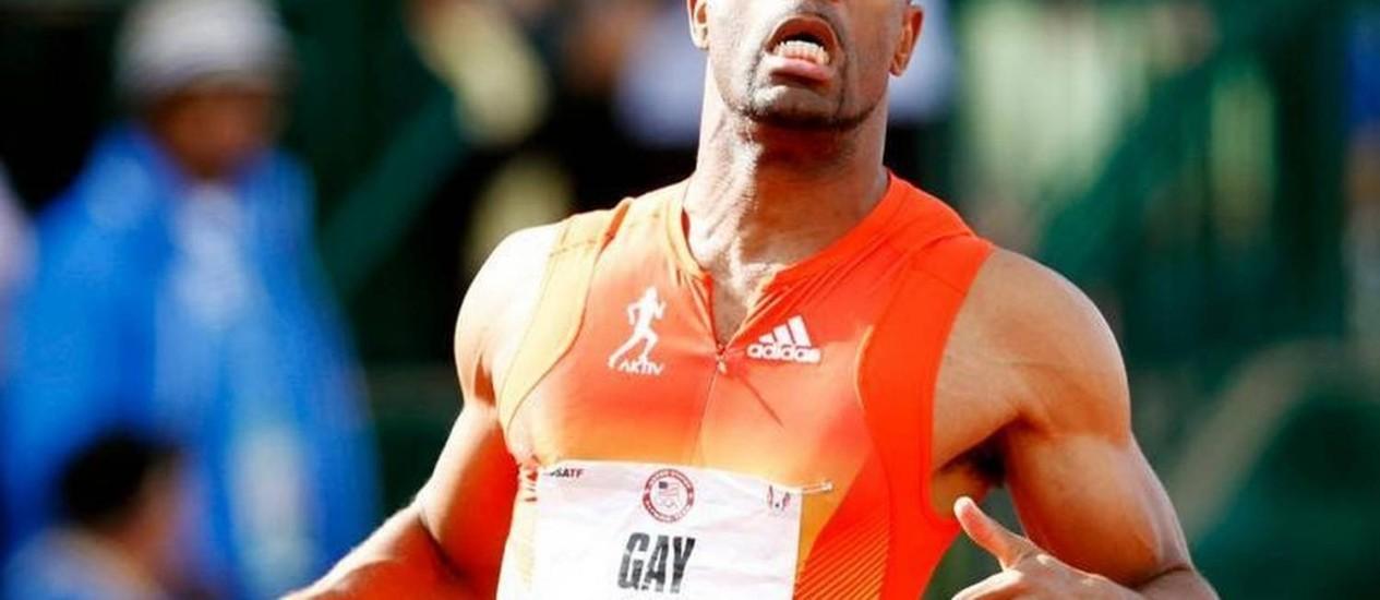 Tyson Gay em ação Foto: Agências Internacionais / Arquivo